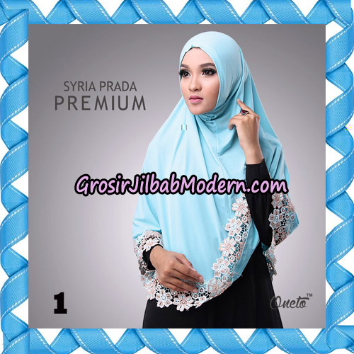 Jilbab Syria Prada Premium Mawar Original By Oneto Hijab Brand No 1