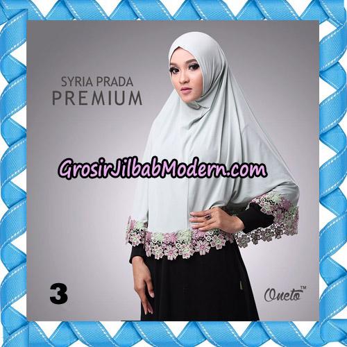 Jilbab Syria Prada Premium Mawar Original By Oneto Hijab Brand No 3