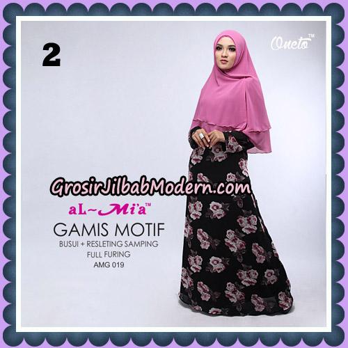 Gamis Motif Cantik AMG 019 Original By AlMia Brand NO 2