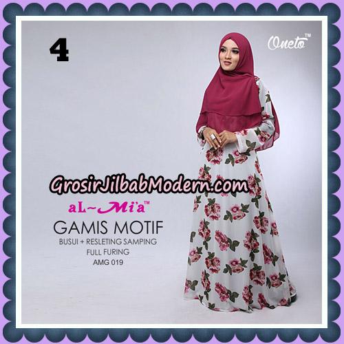 Gamis Motif Cantik AMG 019 Original By AlMia Brand No 4