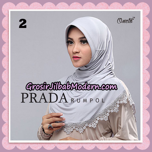 Jilbab Cantik Prada Rumpol Original By Oneto Hijab Brand No 2
