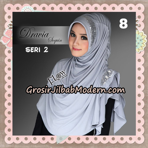 Jilbab Instant Cantik Syria Dravia Sequin Seri 2 Original By Flow Idea NO 8