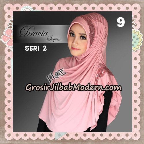 Jilbab Instant Cantik Syria Dravia Sequin Seri 2 Original By Flow Idea No 9