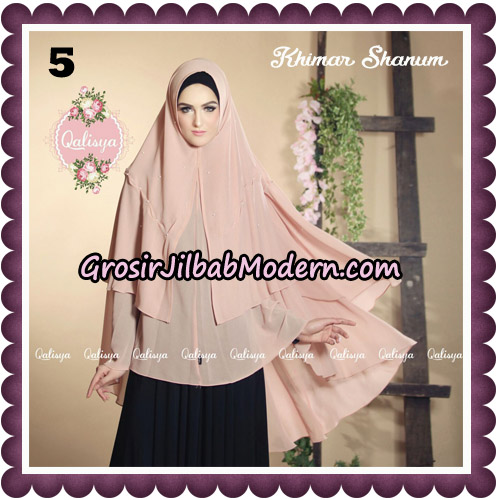 Jilbab Syari Khimar Shanum Original by Qalisya Hijab Brand NO 5