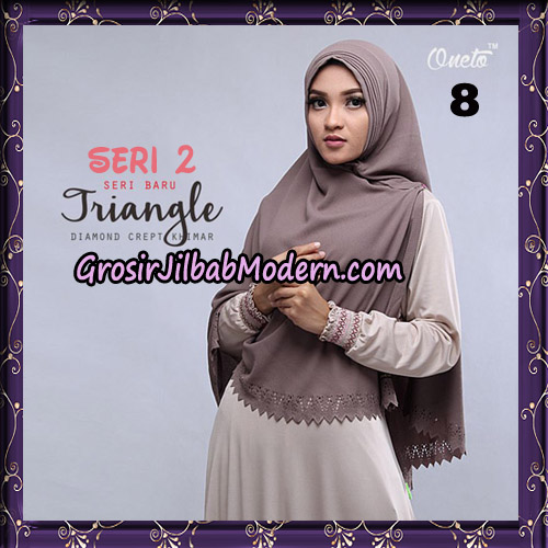 Jilbab Cantik Khimar Lipit Triangle Seri 2 Original By Oneto Hijab Brand No 8