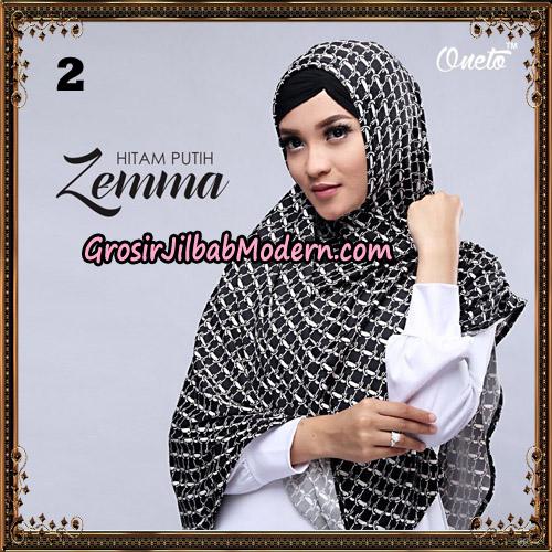 Jilbab Instant Cantik Zema Hitam Putih Support Oneto Hijab No 2