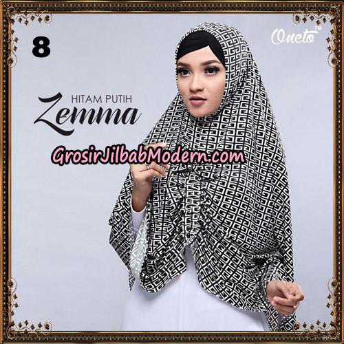 Jilbab Instant Cantik Zema Hitam Putih Support Oneto Hijab No 8