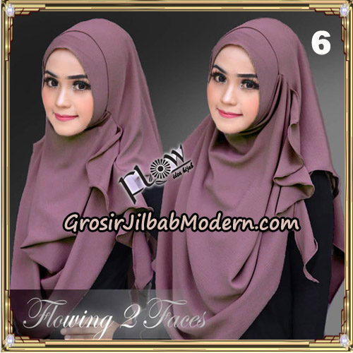 Jilbab Instant Flowing 2 Faces  Bunda Widya Henidar Amroe Original By Flow Idea No 6 Lavender Tua