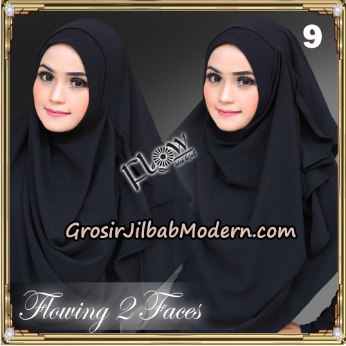 Jilbab Instant Flowing 2 Faces Bunda Widya Henidar Amroe Original By Flow Idea No 9