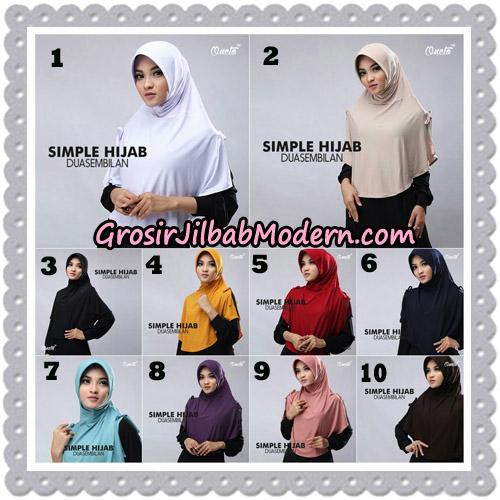 Jilbab Bergo Simple Hijab Seri 29 Original By Firza Hijab Brand