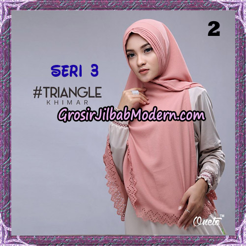 Jilbab Cantik Khimar Lipit Triangle Seri 3 Original By Oneto Hijab Brand No 2