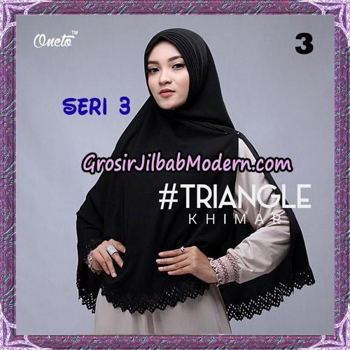 Jilbab Cantik Khimar Lipit Triangle Seri 3 Original By Oneto Hijab Brand No 3