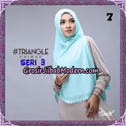 Jilbab Cantik Khimar Lipit Triangle Seri 3 Original By Oneto Hijab Brand No 7