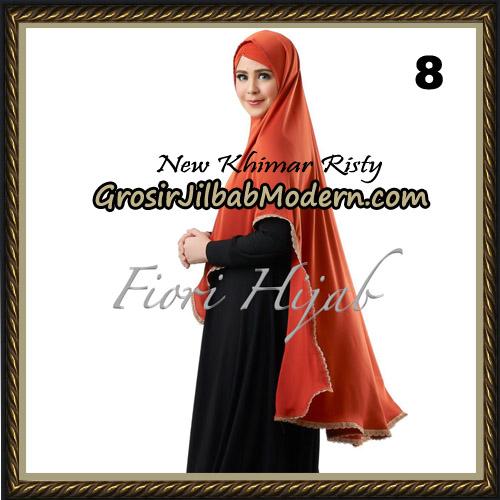 Jilbab Cantik New Khimar Risty Original by Fiori Hijab Brand No 8