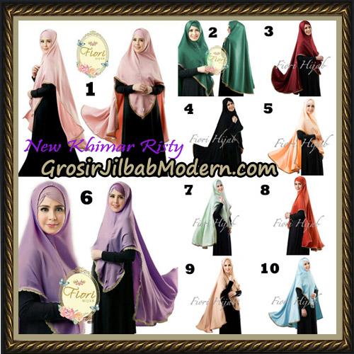 Jilbab Cantik New Khimar Risty Original by Fiori Hijab Brand