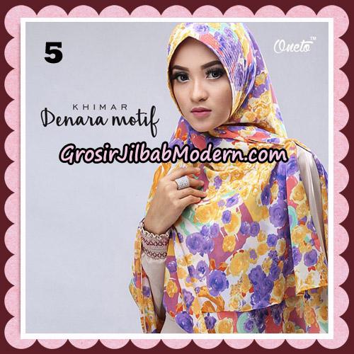 Jilbab Instant Khimar Denara Motif Original By Oneto Hijab Brand No 5