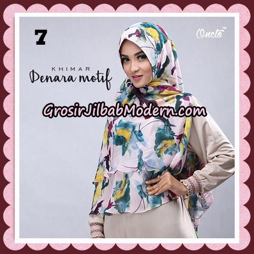 Jilbab Instant Khimar Denara Motif Original By Oneto Hijab Brand No 7