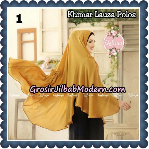 Jilbab Syari Khimar Lauza Polos Original by Qalisya Hijab Brand No 1