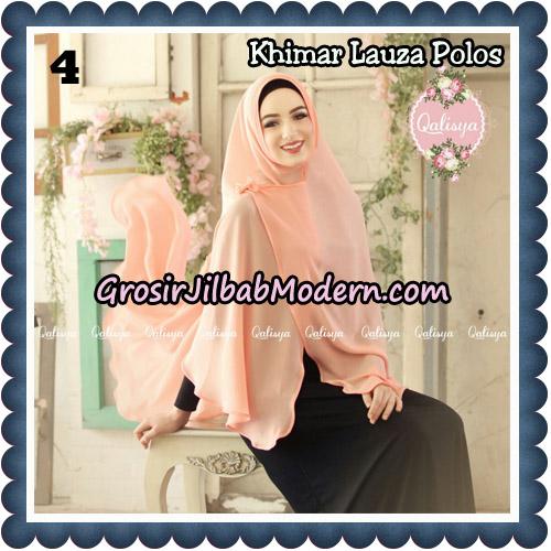 Jilbab Syari Khimar Lauza Polos Original by Qalisya Hijab Brand No 4