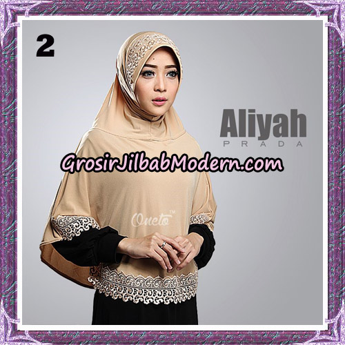 Jilbab Cantik Aliyah Prada Original By Oneto Hijab Brand No 2