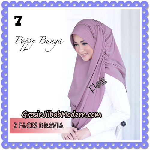 Jilbab Instant 2 Faces Dravia Poppy Bunga Original By Flow Idea Hijab No 7