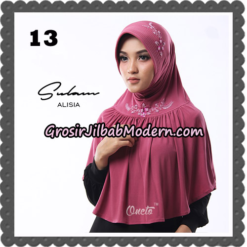 Jilbab Cantik Sulam Alisia Original By Oneto Hijab Brand No 13