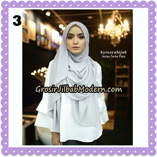 Jilbab Instant Cantik Farha Plain Original by Ixora Hijab Brand No 3