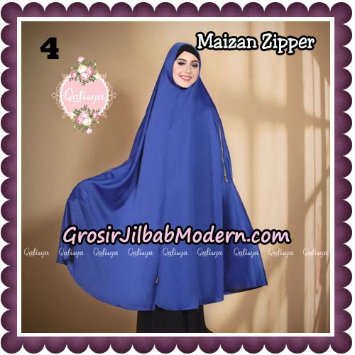 Jilbab Syari Khimar Maizan Zipper Original by Qalisya Hijab Brand No 4