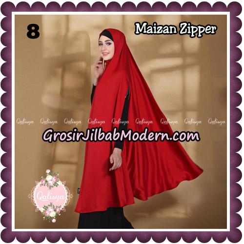 Jilbab Syari Khimar Maizan Zipper Original by Qalisya Hijab Brand No 8