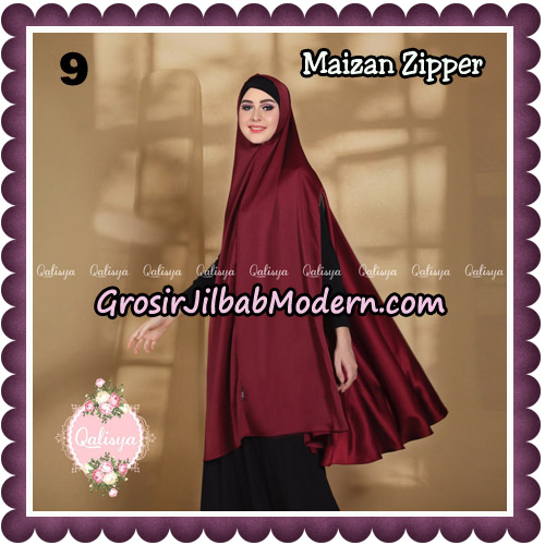 Jilbab Syari Khimar Maizan Zipper Original by Qalisya Hijab Brand No 9