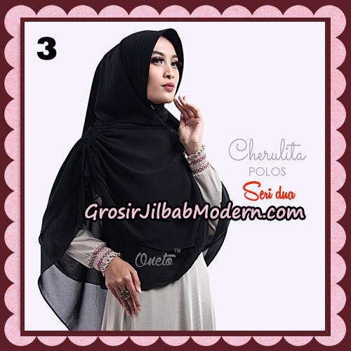 Khimar Instant Cherulita Polos Seri 2 Original By Oneto Hijab Brand No 3