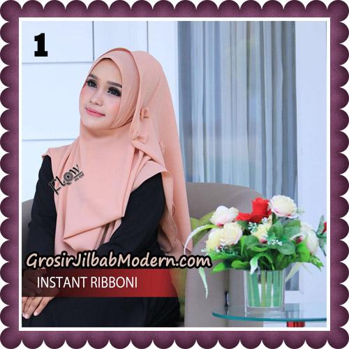 Jilbab Cantik Instant Ribboni Original By Flow Idea Hijab No 1