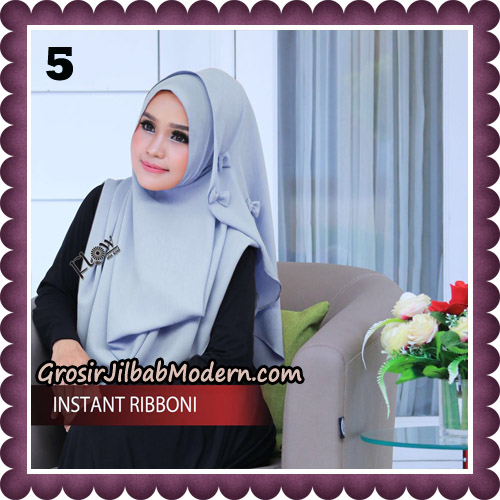 Jilbab Cantik Instant Ribboni Original By Flow Idea Hijab No 5