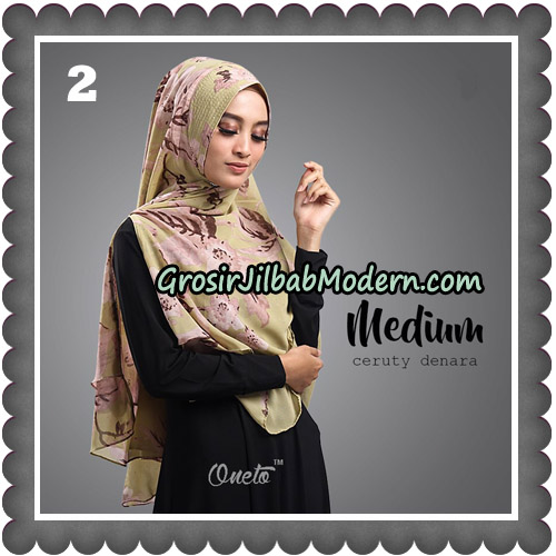 Jilbab Cantik Medium Ceruty Denara Original By Oneto Hijab No 2