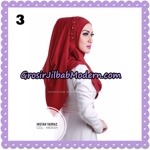Jilbab Instant Yarra 2 Original by Ivory Hijab Brand No 3