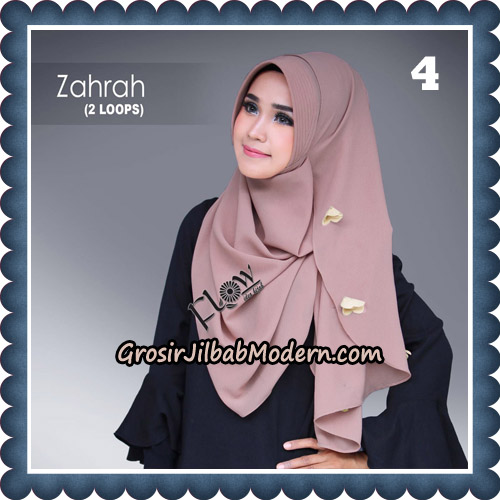 Jilbab Instant Zahrah 2 Loops Original By Flow Idea Hijab No 4