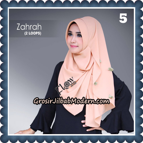 Jilbab Instant Zahrah 2 Loops Original By Flow Idea Hijab No 5