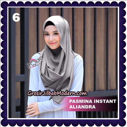 Jilbab Pashmina Instant Aliandra Original By deQiara Hijab Brand No 6