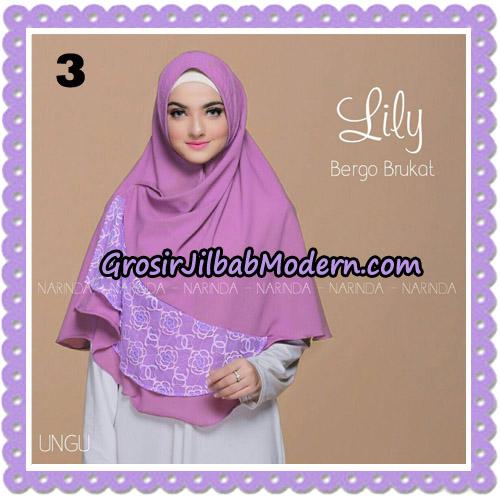 Jilbab Instant Lily Bergo Brukat Original By Narinda Hijab Brand No 3
