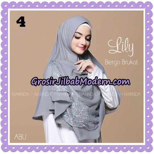 Jilbab Instant Lily Bergo Brukat Original By Narinda Hijab Brand No 4