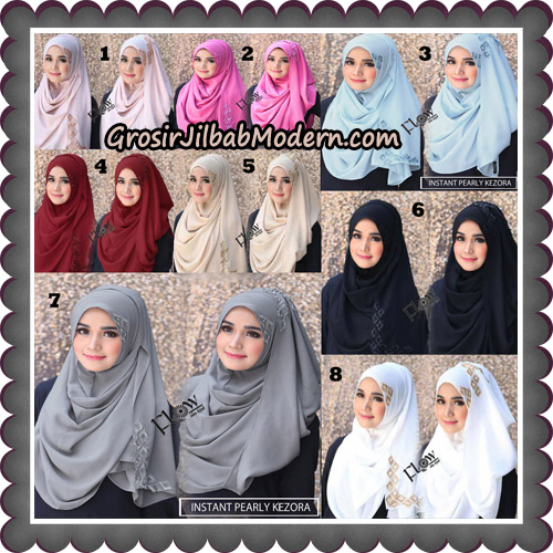Jilbab Instant Pearly Kezora By Flow Idea Hijab Brand