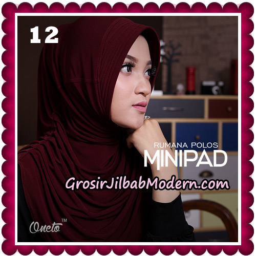 Jilbab Cantik Rumana Polos Minipad Seri 2 Original By Oneto Hijab Brand No 12