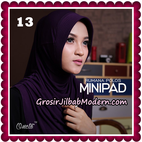 Jilbab Cantik Rumana Polos Minipad Seri 2 Original By Oneto Hijab Brand No 13