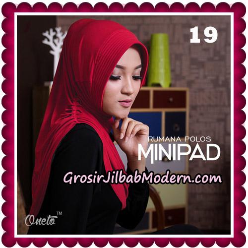 Jilbab Cantik Rumana Polos Minipad Seri 2 Original By Oneto Hijab Brand No 19