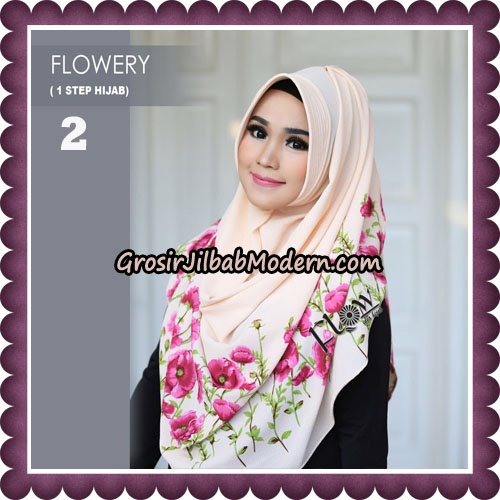 Jilbab Instant 1 Step Hijab Flowery Original By Flow Idea Hijab No 2