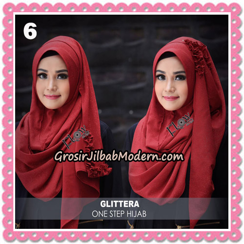 Jilbab Instant Glittera One Step Hijab Original By Flow Idea no 6