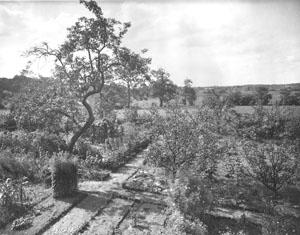 Garten der Familie Robert und Hertha Solmit in der Masch, um 1935