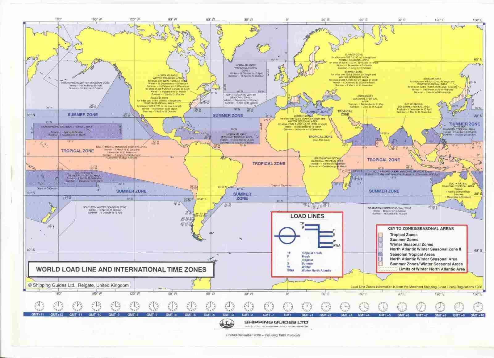 World Load Line Timezones Grosse Seefahrt