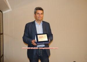 Il vice-sindaco Borghi riceve il premio dato al Comune di Grosseto da Grosseto Sport durante la cerimonia del Player of the year 2015 - foto Yuri Galgani - www.grossetosport.com