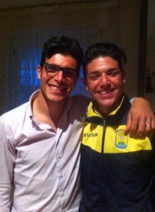 I fratelli Palumbo. A sinistra Roberto, a destra Vittorio (immagine tratta dal profilo Facebook di Vittorio Palumbo)